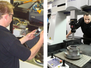 Set up times on the Hoefler machines are vastly reduced compared to high production machines. Ground gear blanks are checked for bore concentricity on our Mitutoyo S574 high accuracy CMM