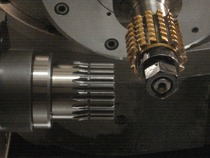 Finished component on 5 axis machine