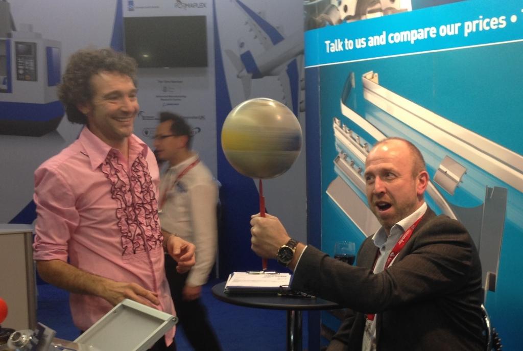Nigel keeping sphere spinning