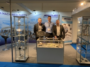 Mini Gears Stand at Aircraft Interiors 2019